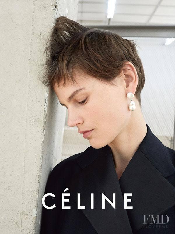 Saskia de Brauw featured in  the Celine advertisement for Spring/Summer 2017