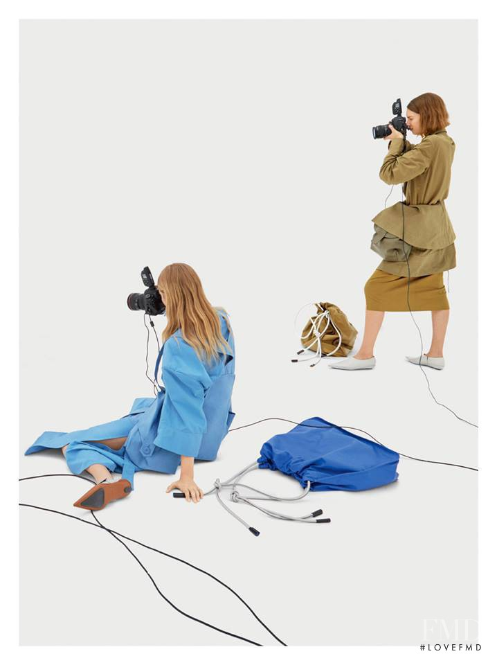 Jessica Picton Warlow featured in  the Marni advertisement for Spring/Summer 2017