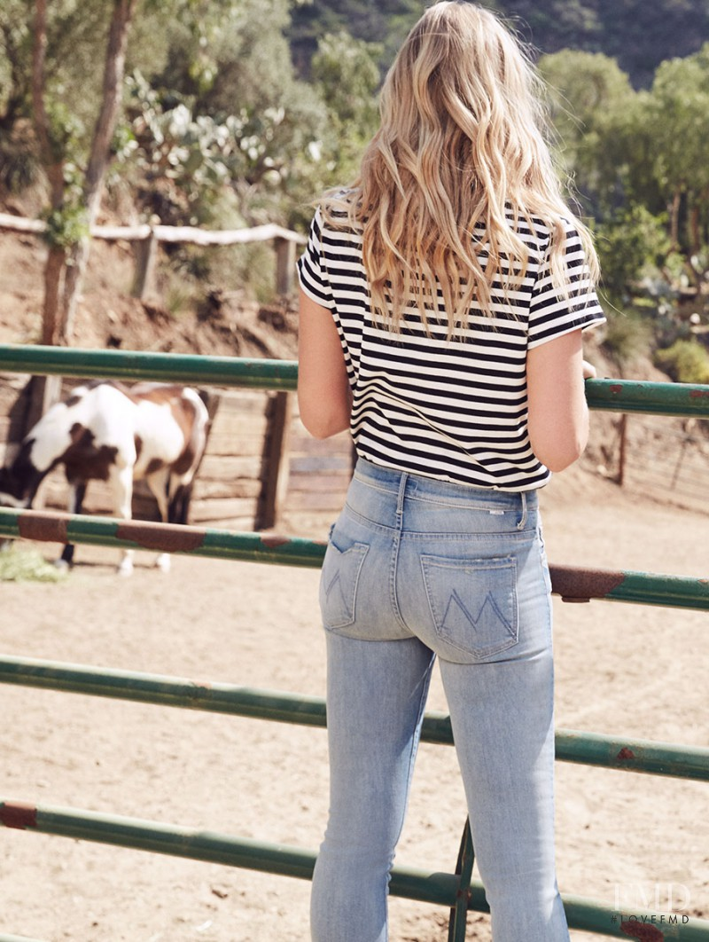 Marloes Horst featured in  the Mother Denim advertisement for Summer 2017