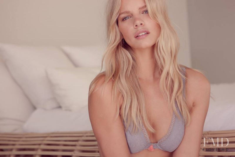 Marloes Horst featured in  the Eberjey advertisement for Pre-Spring 2017