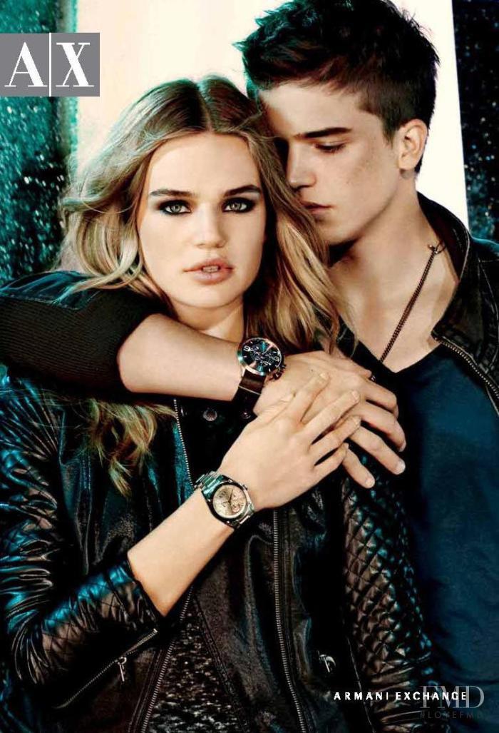 Milou Sluis featured in  the Armani Exchange advertisement for Autumn/Winter 2011