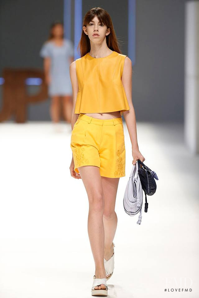 Mayka Merino featured in  the Lupo Barcelona fashion show for Spring/Summer 2016