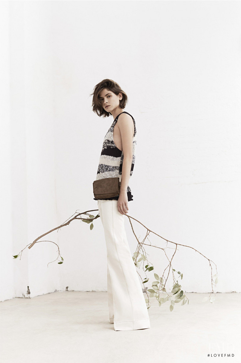 Alba Galocha featured in  the Mango lookbook for Spring/Summer 2015