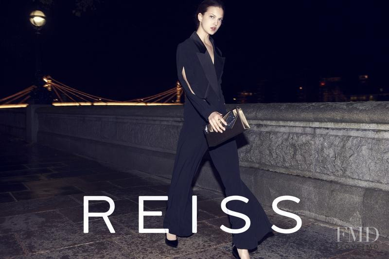 Nadine Ponce featured in  the Reiss advertisement for Autumn/Winter 2012