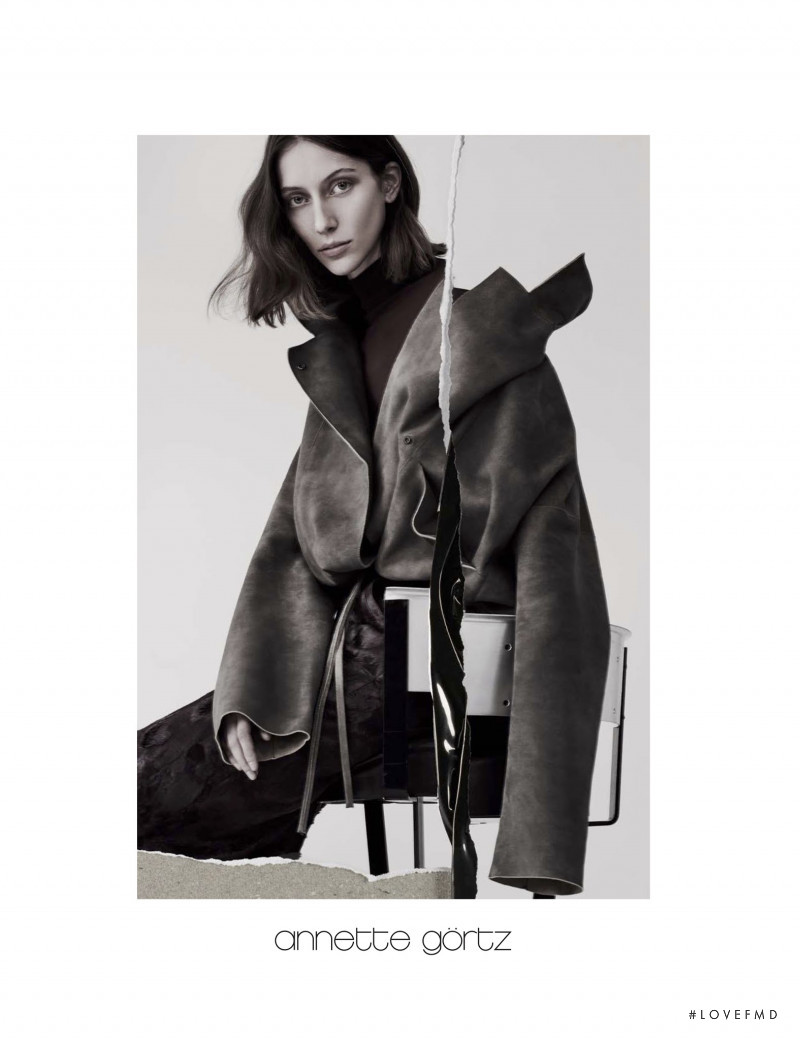 Alana Zimmer featured in  the Annette Gortz advertisement for Autumn/Winter 2017