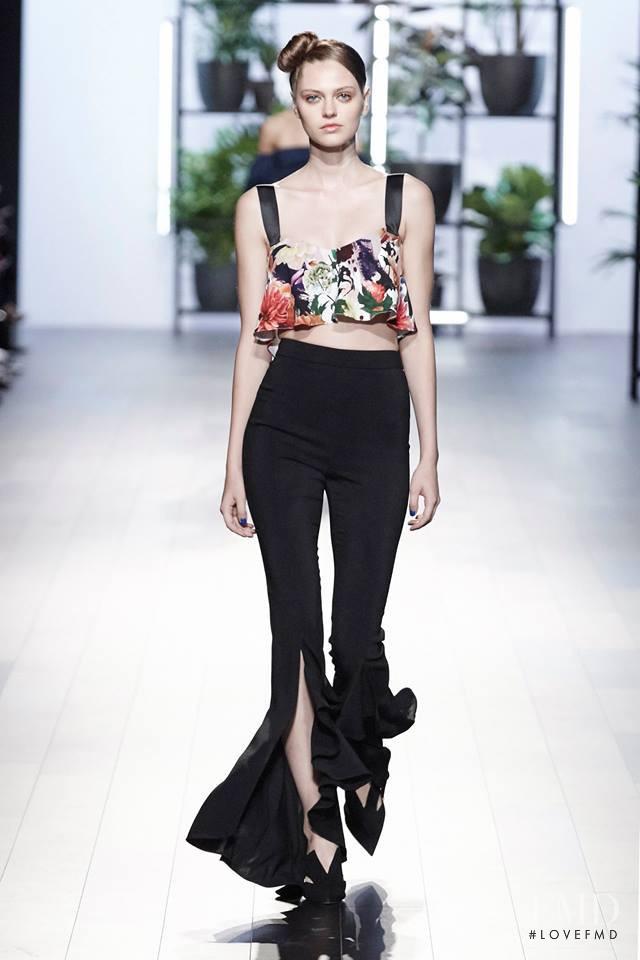 Natalia Bulycheva featured in  the Cushnie Et Ochs fashion show for Spring/Summer 2018