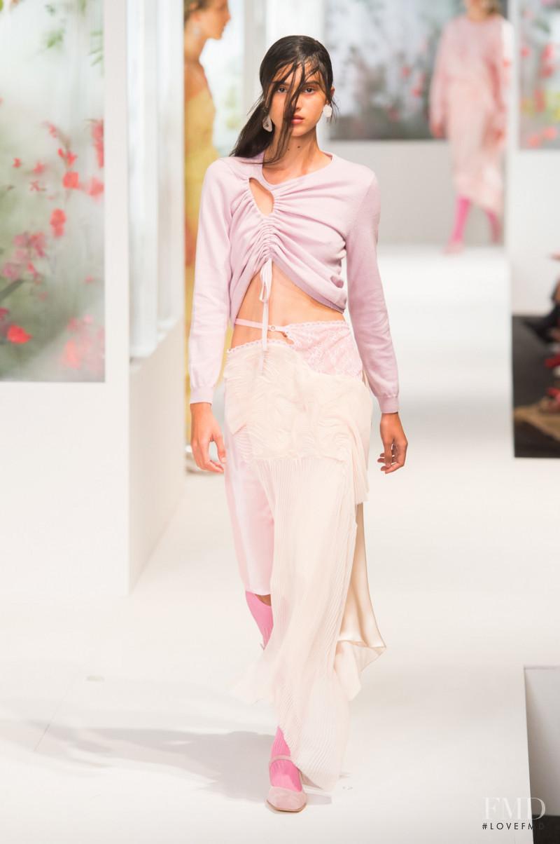 Aira Ferreira featured in  the Preen by Thornton Bregazzi fashion show for Spring/Summer 2018