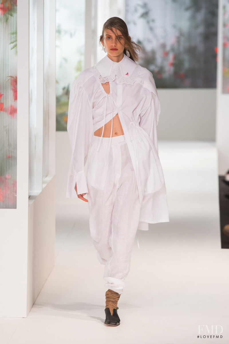 Sarah Berger featured in  the Preen fashion show for Spring/Summer 2018