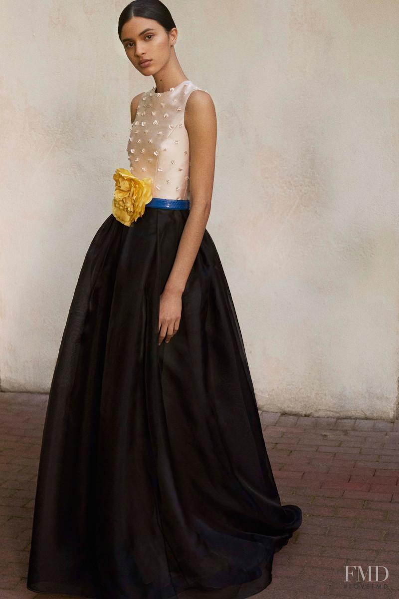 Aira Ferreira featured in  the Carolina Herrera lookbook for Resort 2018
