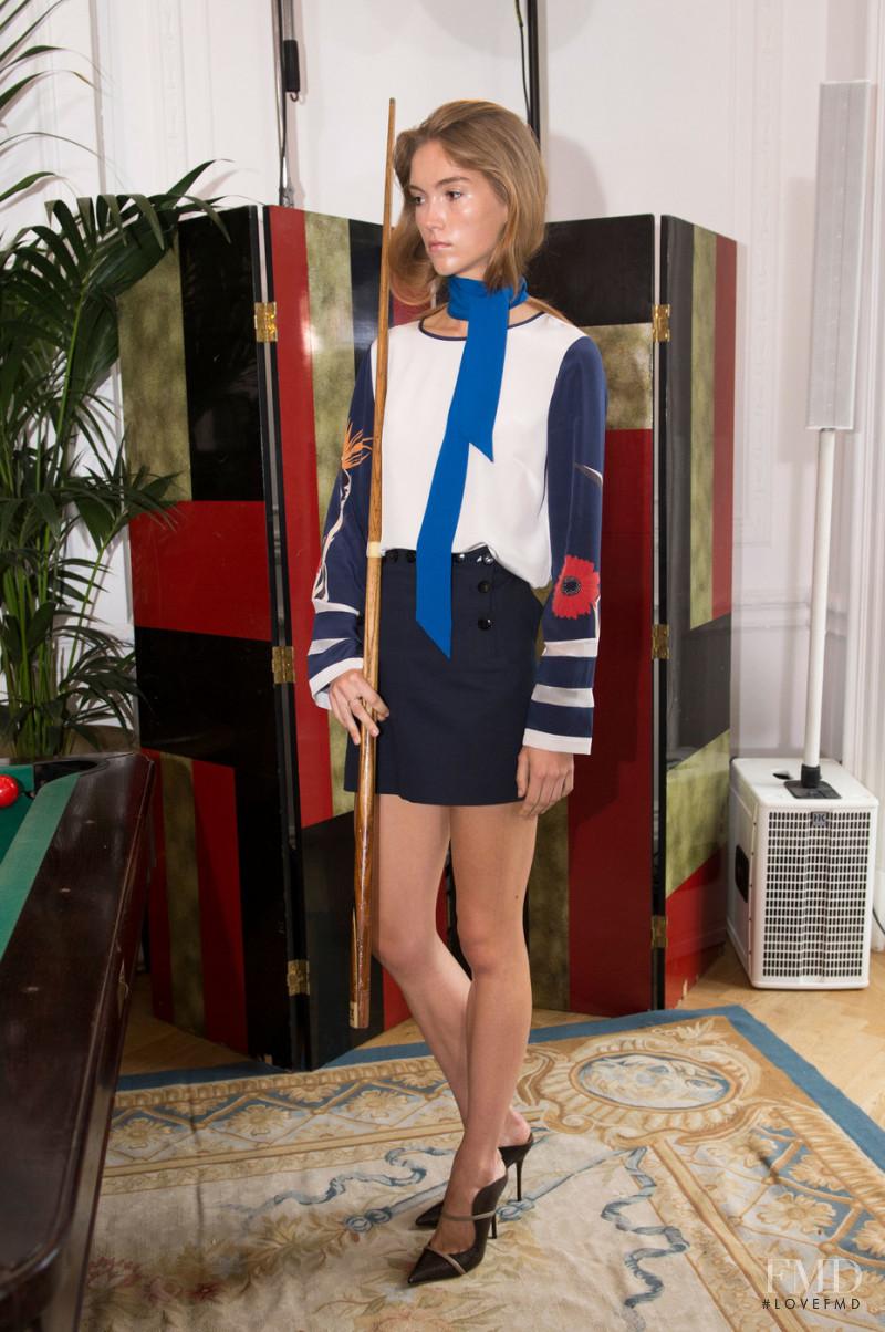 Megan Bull featured in  the Aquascutum fashion show for Spring/Summer 2017