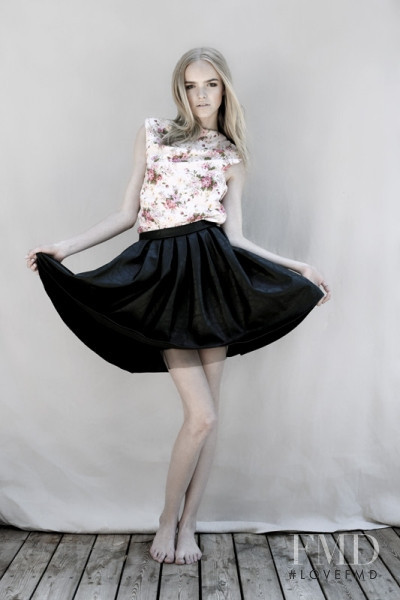 Sigrid Cold featured in  the Black Secret advertisement for Spring/Summer 2012