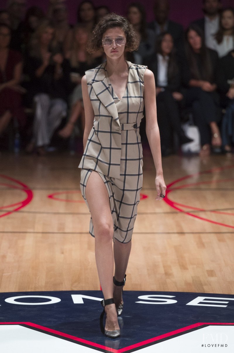 Amber Witcomb featured in  the Monse fashion show for Spring/Summer 2018