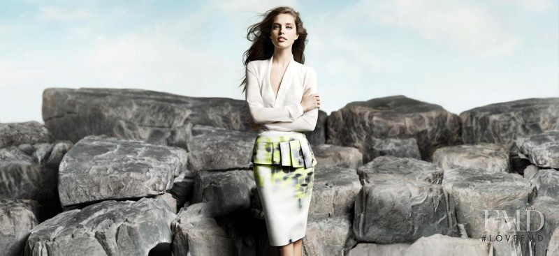 Emily DiDonato featured in  the Elie Tahari advertisement for Spring/Summer 2013