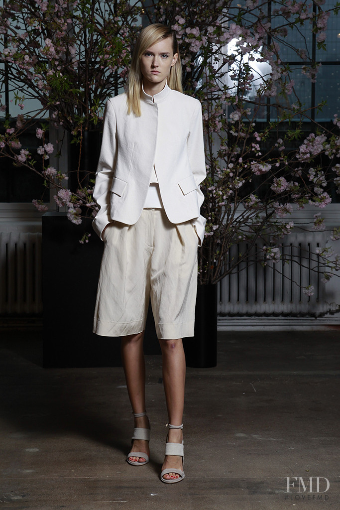 Harleth Kuusik featured in  the Donna Karan New York fashion show for Resort 2016