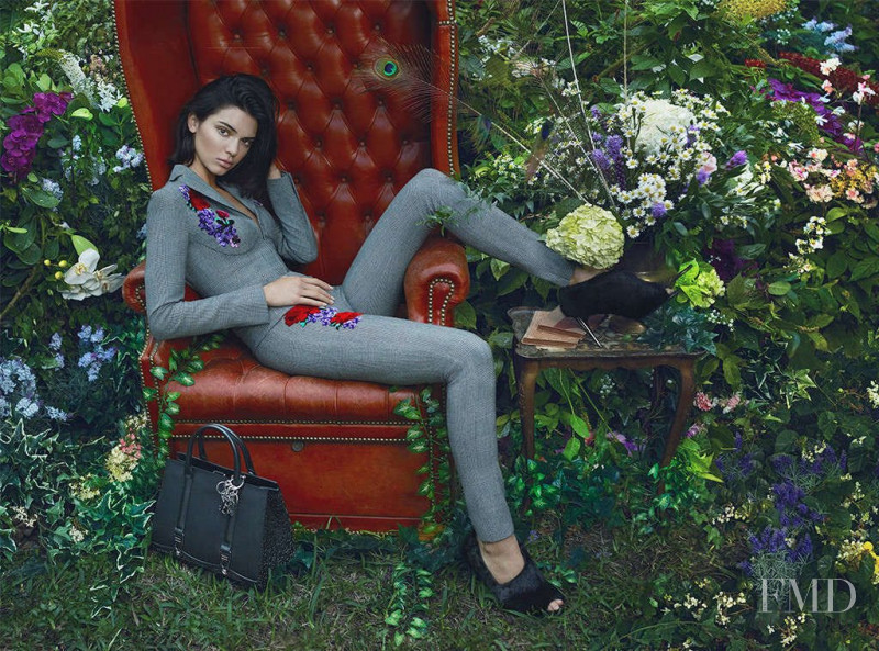 Kendall Jenner featured in  the La Perla advertisement for Autumn/Winter 2017