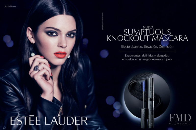 Kendall Jenner featured in  the Estée Lauder Sumptuous Knockout Mascara advertisement for Summer 2017