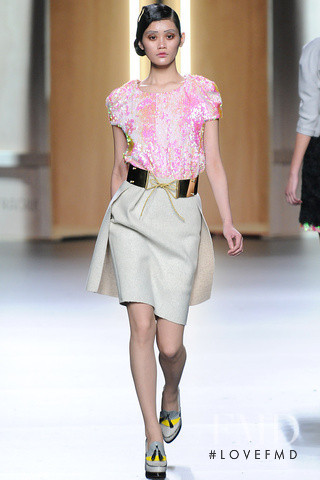 Ming Xi featured in  the Ana Locking fashion show for Autumn/Winter 2012