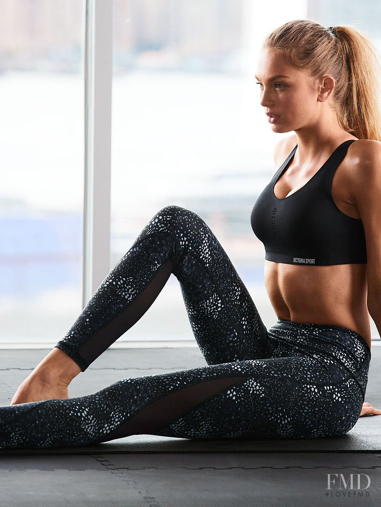 Romee Strijd featured in  the Victoria\'s Secret Sport catalogue for Autumn/Winter 2017