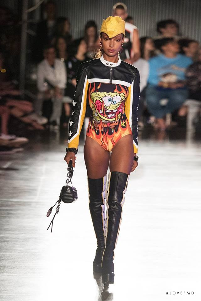 Jasmine Tookes featured in  the Moschino fashion show for Spring/Summer 2018
