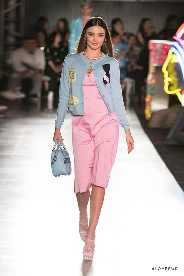 Miranda Kerr featured in  the Moschino fashion show for Spring/Summer 2018