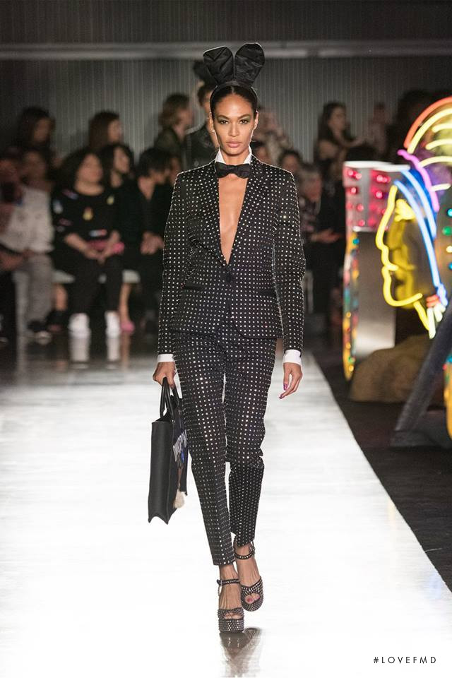 Joan Smalls featured in  the Moschino fashion show for Spring/Summer 2018