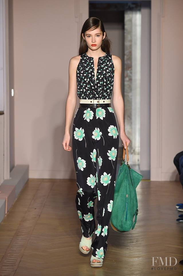 Vika Ihnatenko featured in  the Agnona fashion show for Spring/Summer 2017