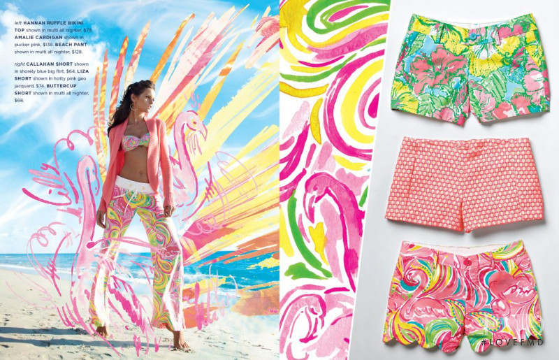 Izabel Goulart featured in  the Lilly Pulitzer catalogue for Spring 2015