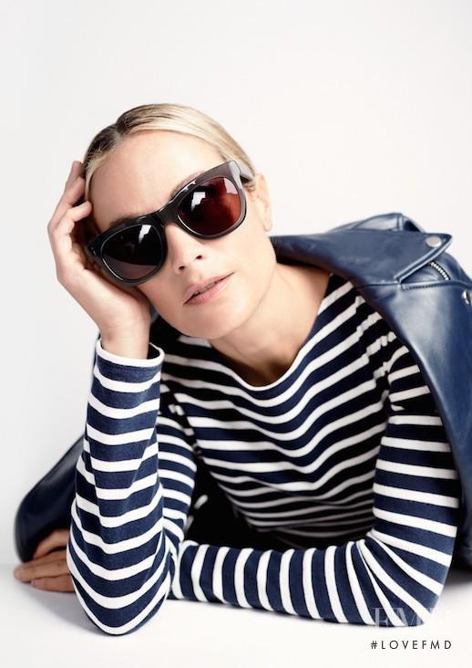 Carolyn Murphy featured in  the J.Crew Eyewear advertisement for Fall 2016
