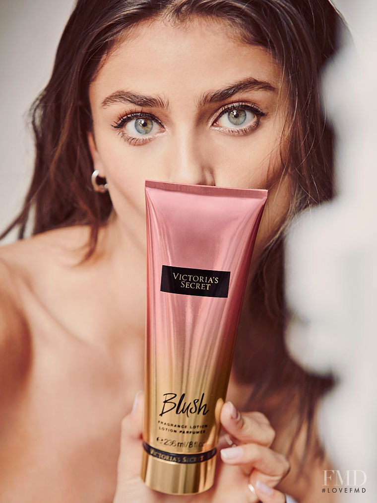 Taylor Hill featured in  the Victoria\'s Secret Beauty catalogue for Spring/Summer 2017