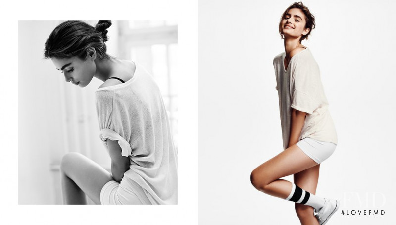 Taylor Hill featured in  the H&M Divided advertisement for Spring/Summer 2014
