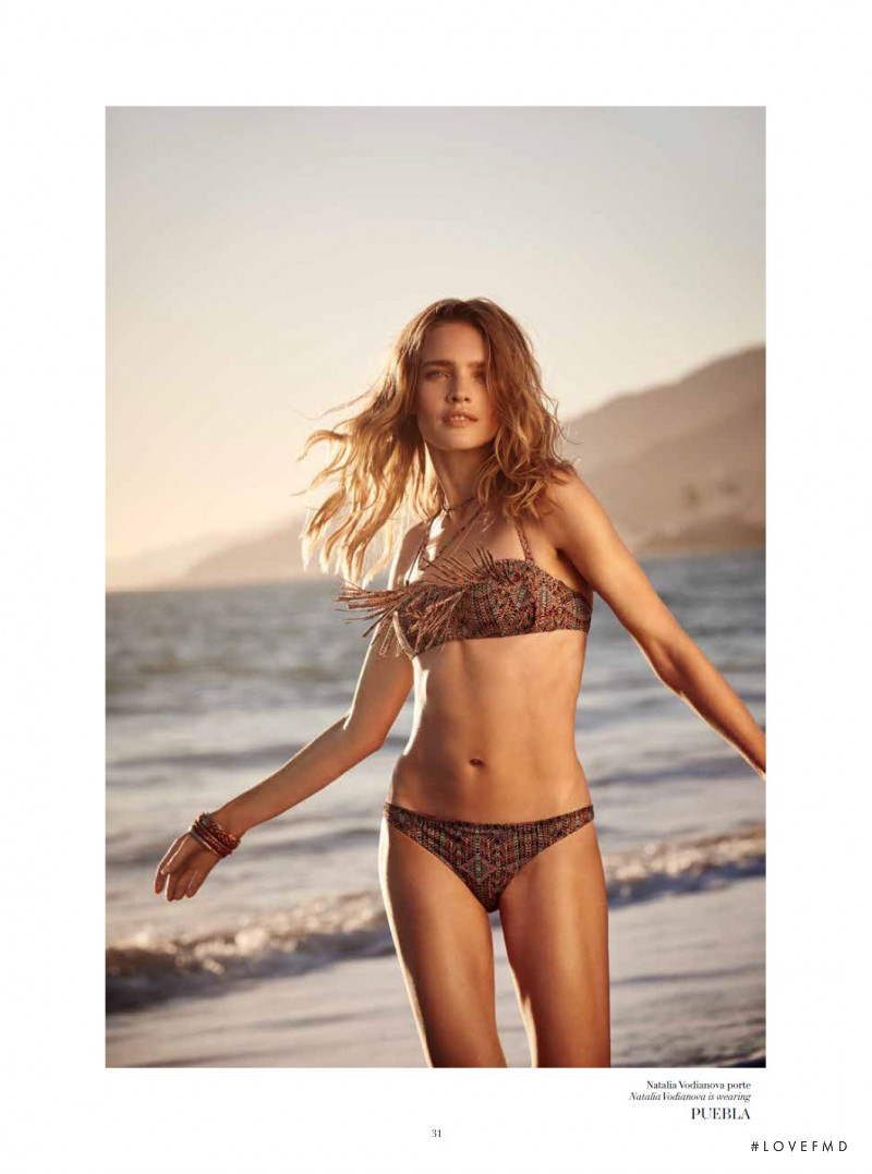 Natalia Vodianova featured in  the Etam Swimwear catalogue for Spring/Summer 2015