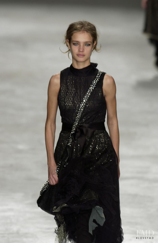 Natalia Vodianova featured in  the Anna Molinari fashion show for Spring/Summer 2003