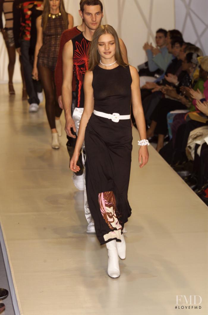 Natalia Vodianova featured in  the Custo Barcelona fashion show for Autumn/Winter 2001