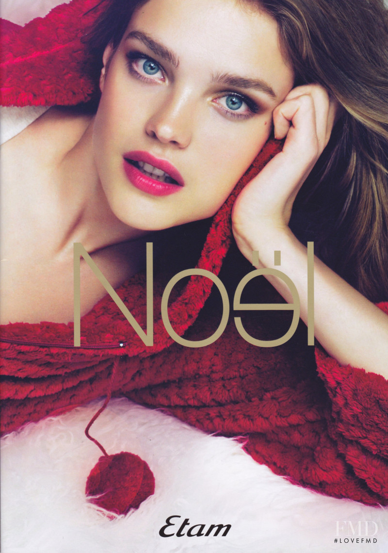 Natalia Vodianova featured in  the Etam advertisement for Holiday 2010