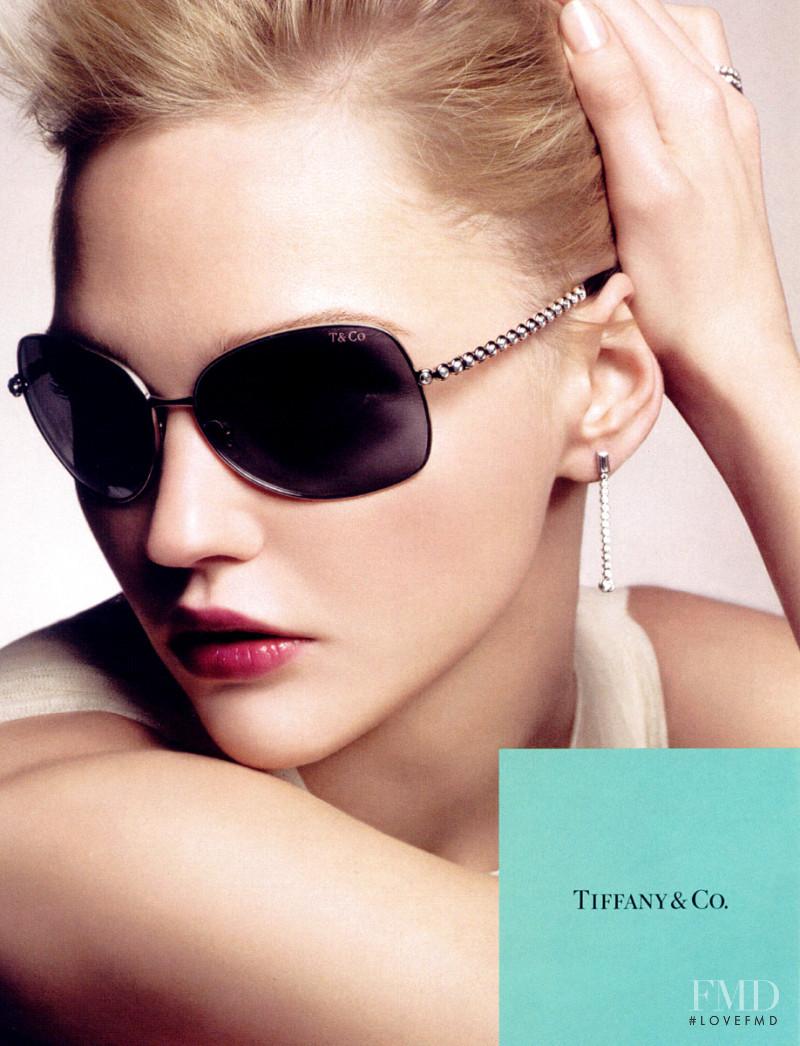 Sasha Pivovarova featured in  the Tiffany & Co. advertisement for Autumn/Winter 2009
