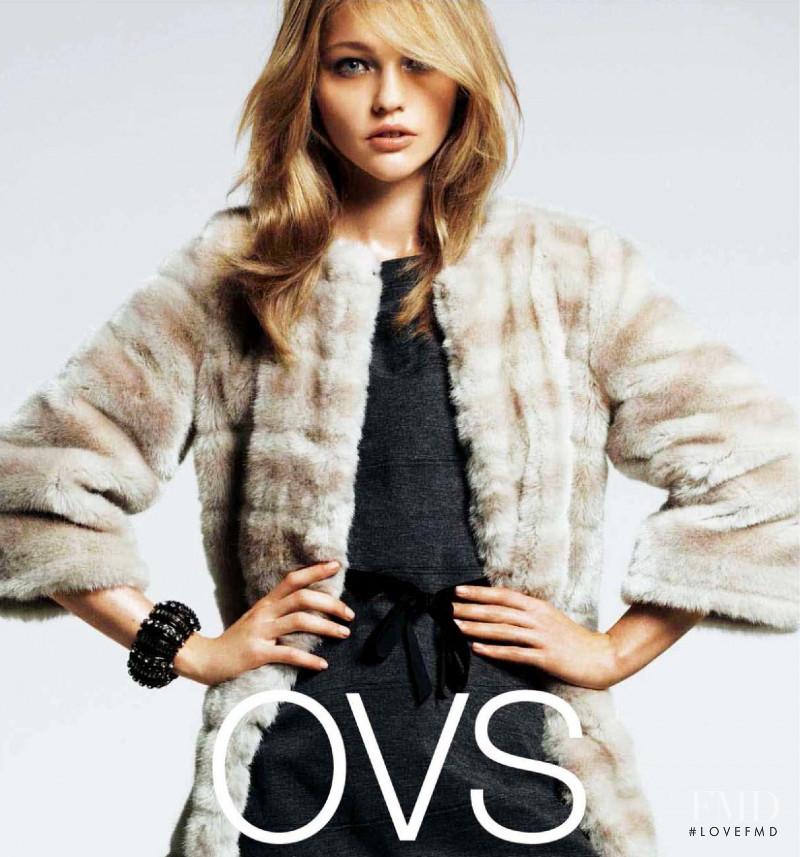 Sasha Pivovarova featured in  the OVS Industry advertisement for Autumn/Winter 2011