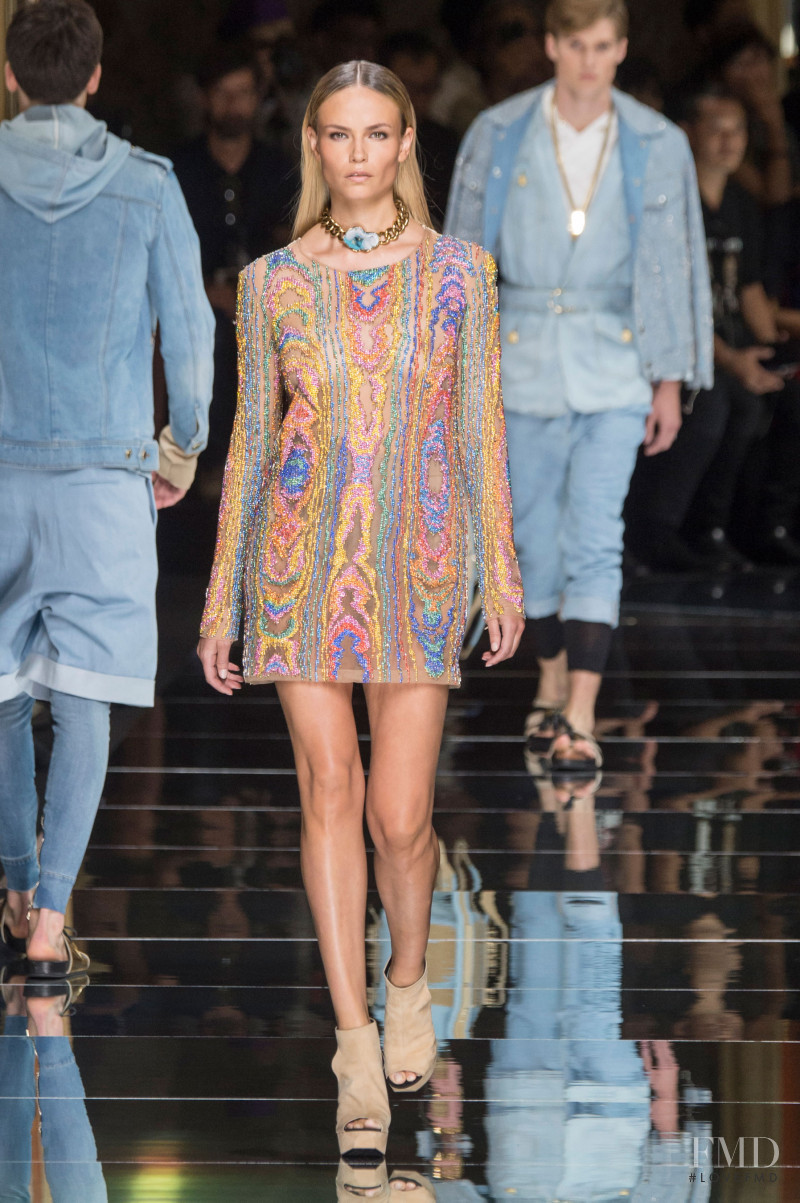 Natasha Poly featured in  the Balmain fashion show for Spring/Summer 2017