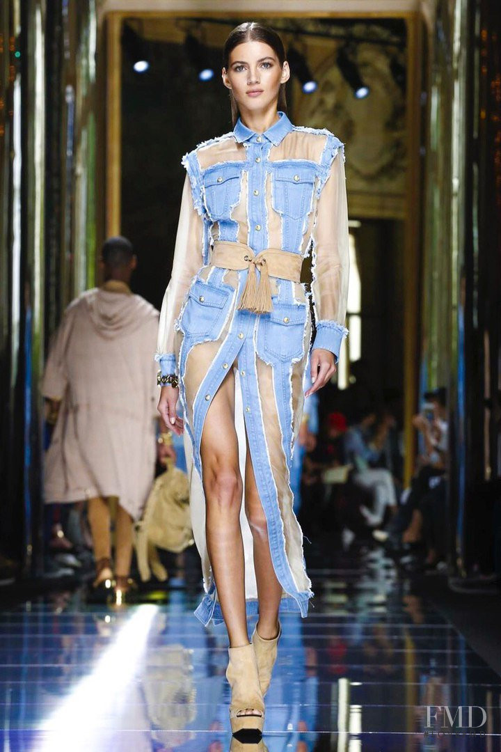 Valery Kaufman featured in  the Balmain fashion show for Spring/Summer 2017