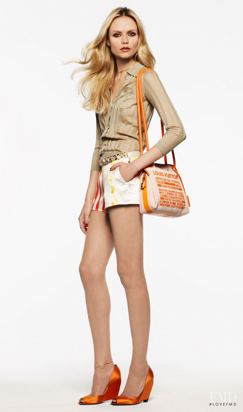Natasha Poly featured in  the Louis Vuitton lookbook for Resort 2009