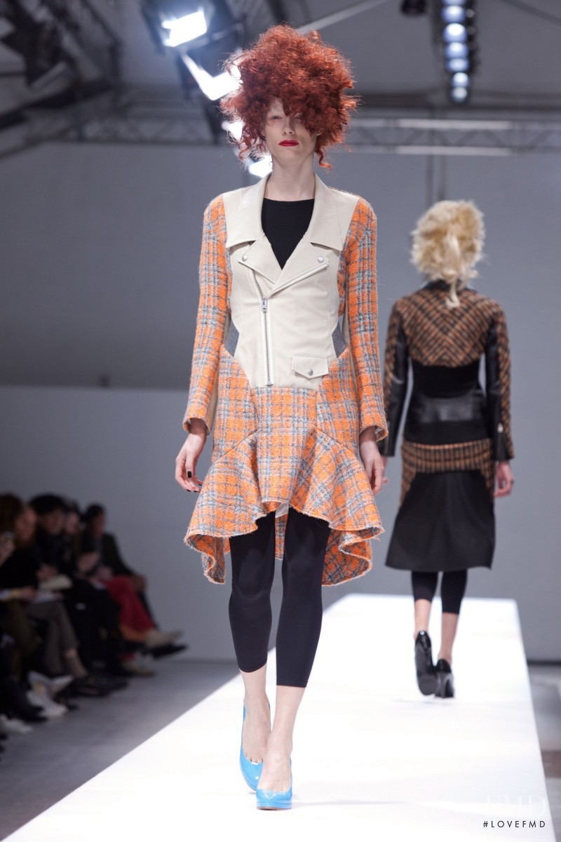 Ilona Swagemakers featured in  the Junya Watanabe fashion show for Autumn/Winter 2013