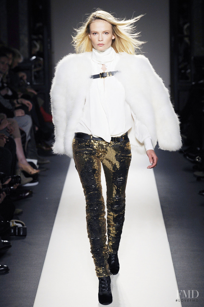 Natasha Poly featured in  the Balmain fashion show for Autumn/Winter 2010