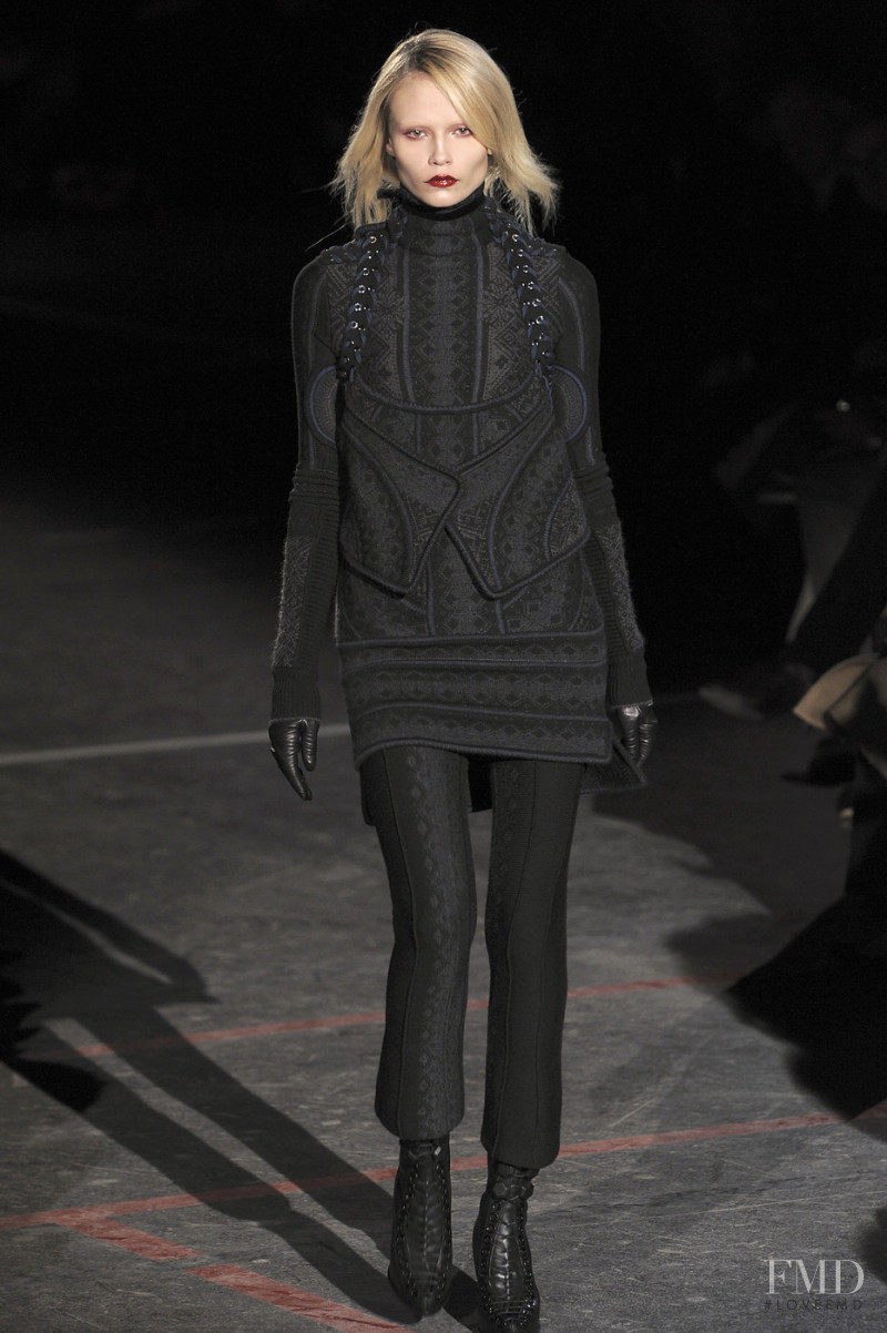 Natasha Poly featured in  the Givenchy fashion show for Autumn/Winter 2010