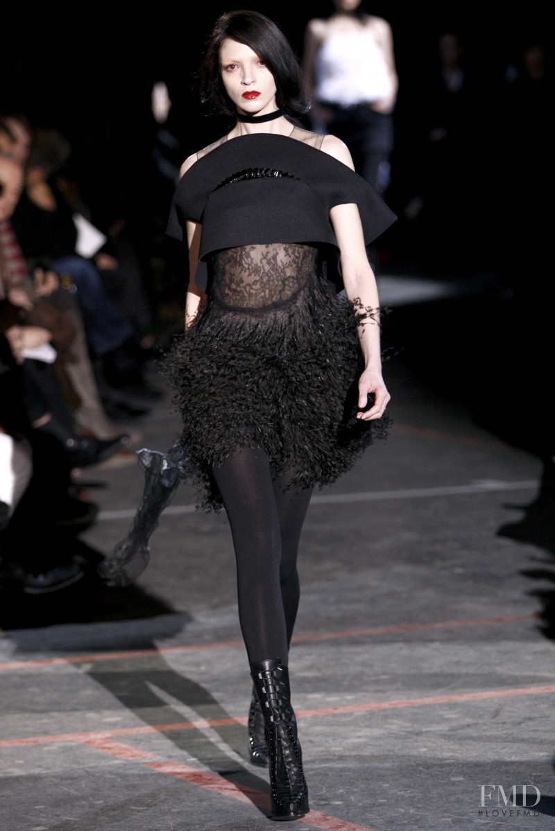 Mariacarla Boscono featured in  the Givenchy fashion show for Autumn/Winter 2010