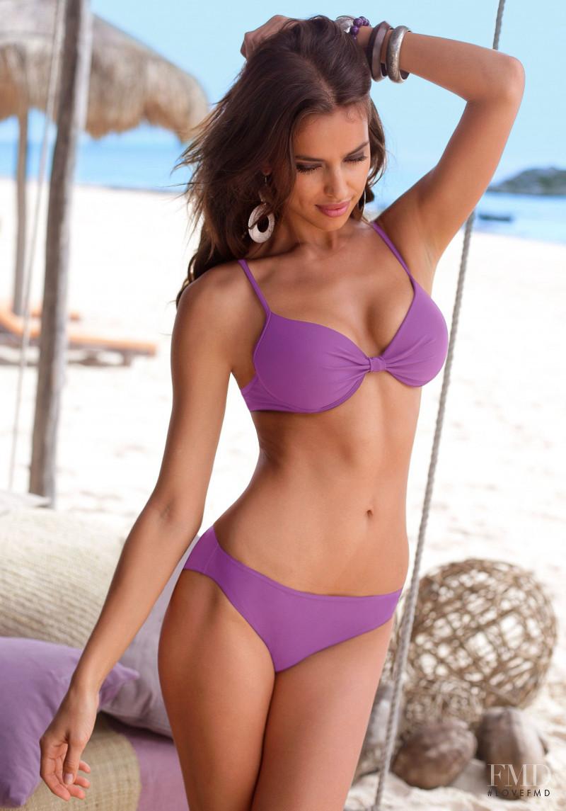 Irina Shayk featured in  the Bruno Banani Swimwear advertisement for Spring/Summer 2011