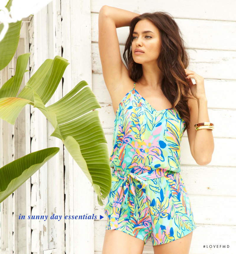 Irina Shayk featured in  the Lilly Pulitzer catalogue for Fall 2014