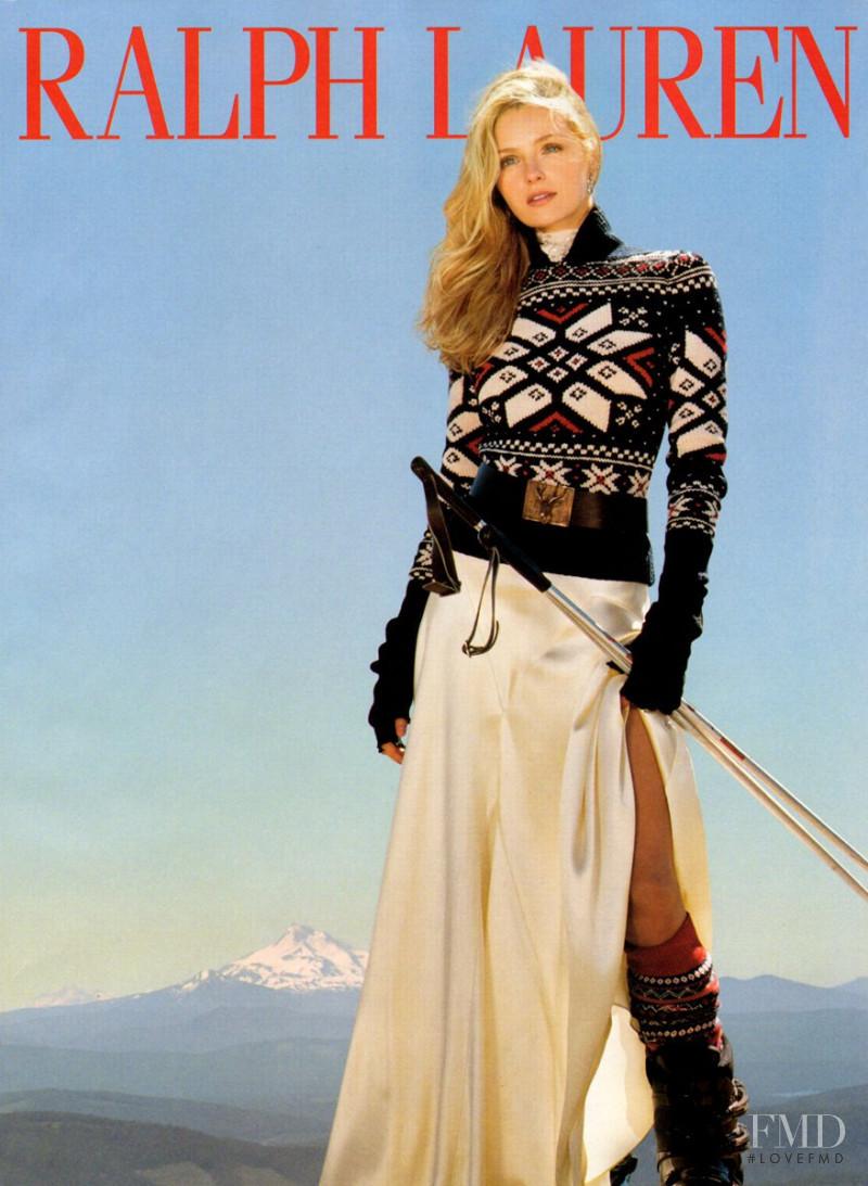 Valentina Zeliaeva featured in  the Ralph Lauren advertisement for Autumn/Winter 2009