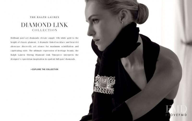 Valentina Zeliaeva featured in  the Ralph Lauren Jewellery advertisement for Holiday 2011