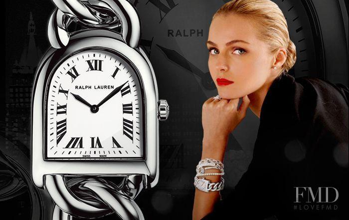 Valentina Zeliaeva featured in  the Ralph Lauren Watches advertisement for Spring/Summer 2013