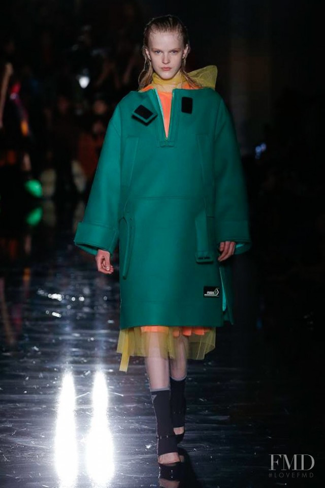 Hannah Motler featured in  the Prada fashion show for Autumn/Winter 2018