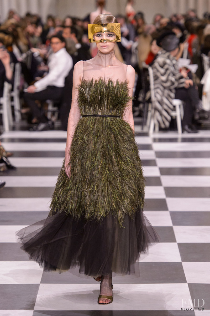 Julie Trichot featured in  the Christian Dior Haute Couture fashion show for Spring/Summer 2018